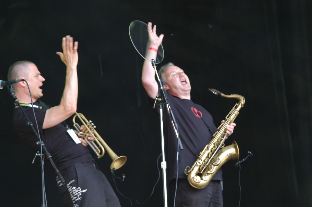 Open Air St.Gallen 2006 Horn section Silver and Romansky