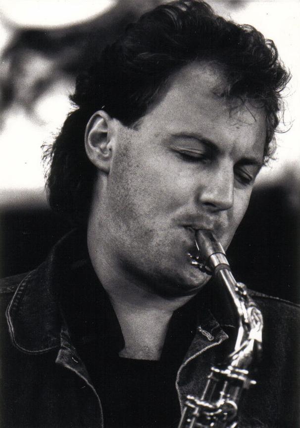 """Altosax bei der """"Thomas Diethelm Band"""", 1986"""