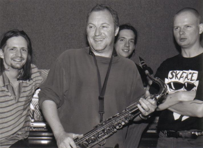 Fumetti Funk 1998, v.l. Luca Leombruni, R.W., Christian Rösli, Peter Haas